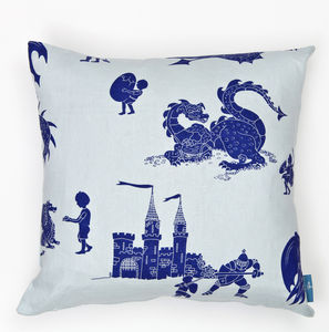 Dragon And Knight Cushion