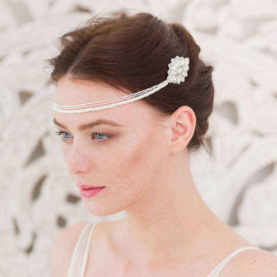 Wedding Hair Comb With Chains