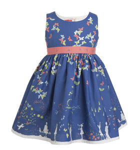 Martha Navy Butterfly Dress - clothing