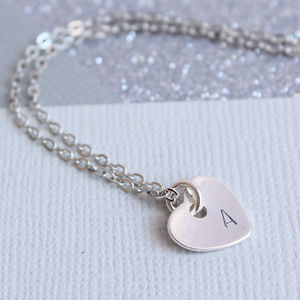 Personalised Heart Pendant - stocking fillers under £15