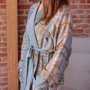 New York City Map Dressing Gown