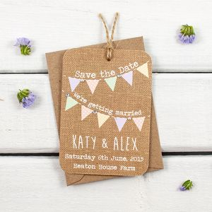 Burlap Gem Save The Date