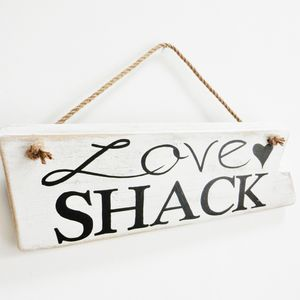 Reclaimed Wood 'Love Shack' Sign - art & decorations