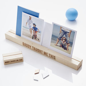 Personalised 'Daddy Taught Me This' Photo Block - picture frames