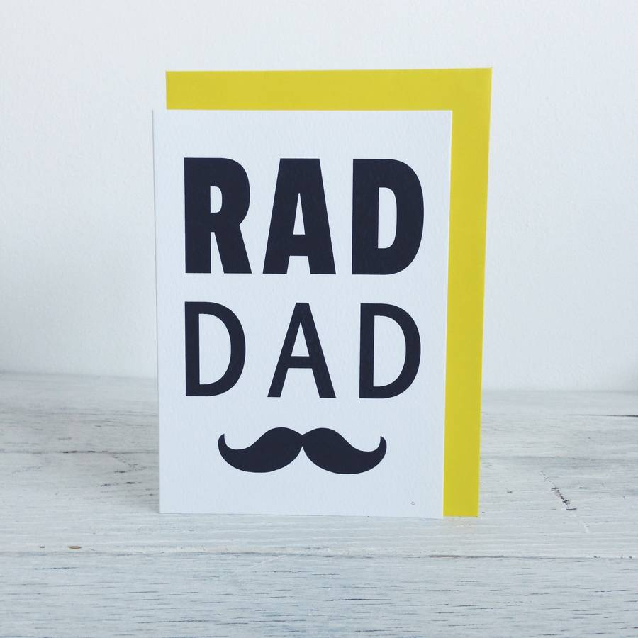 Rad Dad Recycled Fathers Day Card