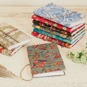 Hand Block Printed Cotton Notebook