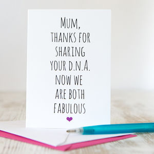 'Fab Mum' Mother's Day Card - mother's day cards
