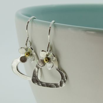 Daisy Heart Earrings Of Porthleven
