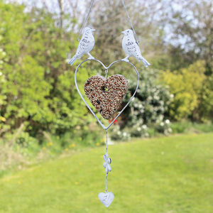 Heart Shaped Bird Feeder With Seeds - view all sale items