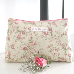 Bride's Personalised Cosmetic Bag - wedding fashion