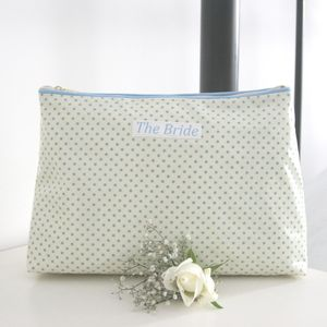 Bride's Personalised Cosmetic Oilcloth Bag - the morning of the big day