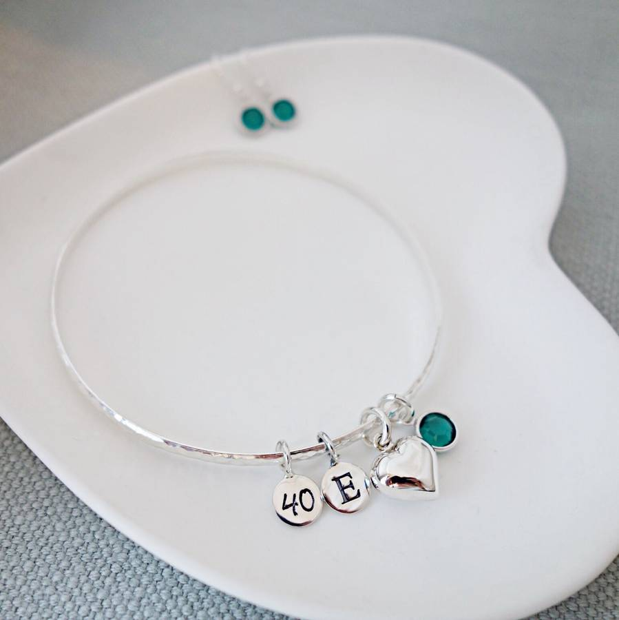 Emerald May Birthstone Bangle