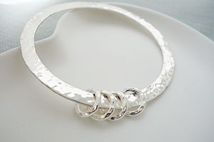 40th Birthday Chunky Silver Bangle - bracelets & bangles