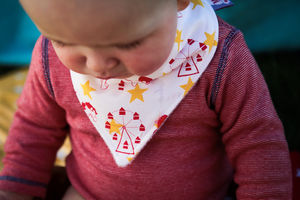 Yellow Stars, Carousel Dribble Bib - baby & child sale