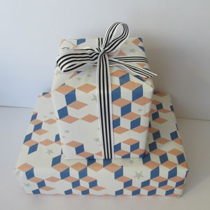 Gift Wrap And Ribbon Pack : Geo - shop by category