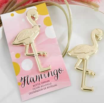 'Fancy And Feathered' Flamingo Bottle Opener