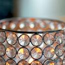 Art Deco Tea Light Crystal Hanging Lantern