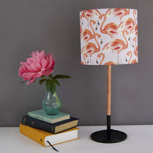 Flamingo Lampshade - bedroom