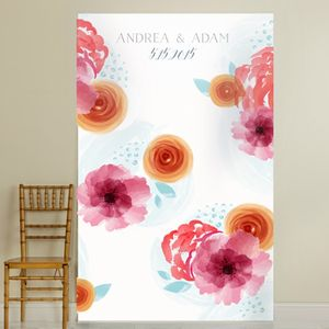 Personalised 'Botanical Floral' Backdrop - statement wedding decor