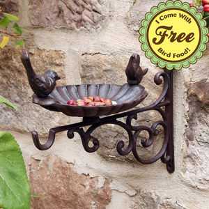 Cast Iron Bird Bath Bracket And Free Bird Food - personalised