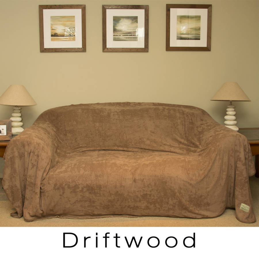 Cotton Towelling Sofa Throw By The Ruff And Tumble Dog