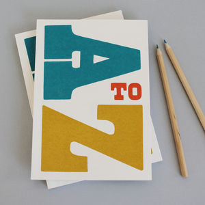 'A To Z' Notebook