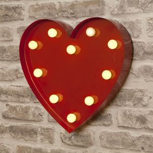 Vegas Metal LED Circus Heart Light - children's lights
