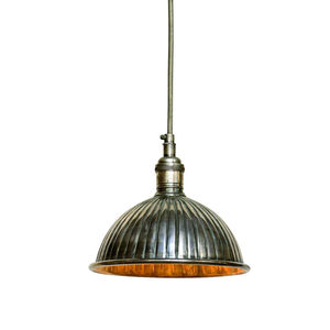 Vintage Nickel Pendant Light - lighting