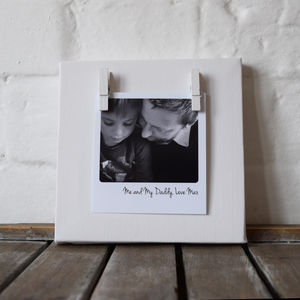 Personalised Memory Photo Message Mini Canvas - art & pictures