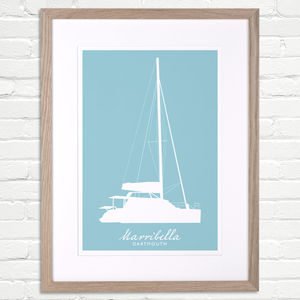 Personalised Boat Silhouette