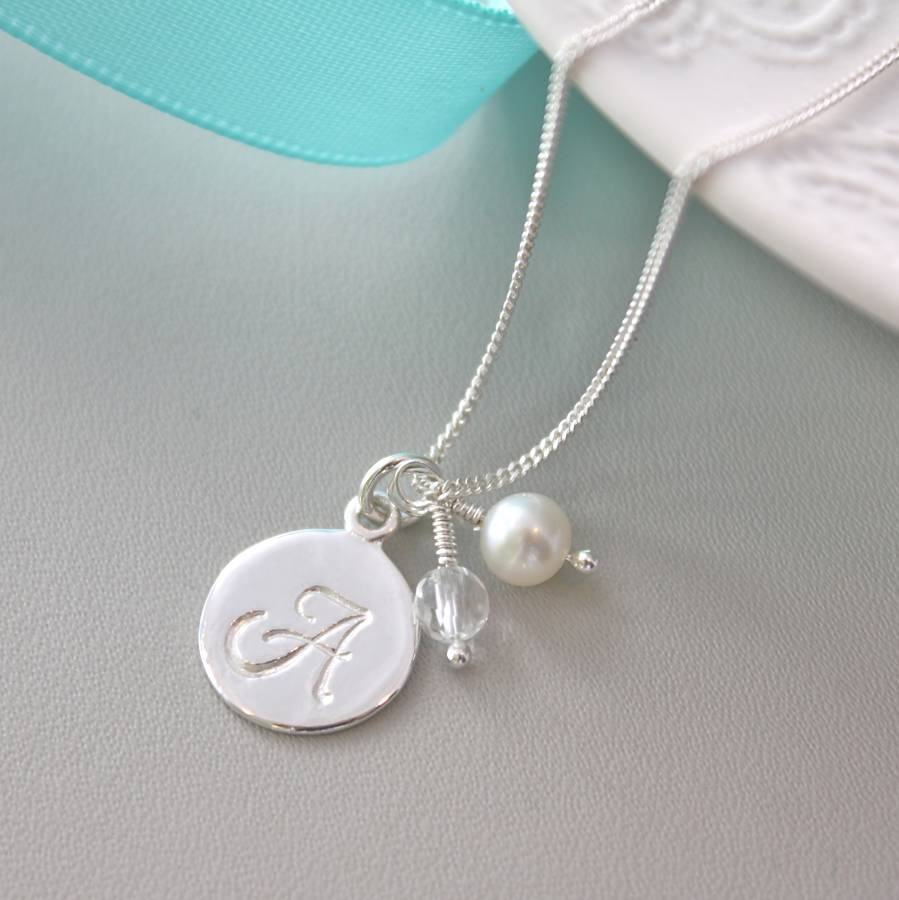 Sterling Silver Initial Pendant By Claudette Worters