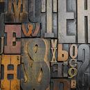 Vintage Letterpress Printers Blocks Large