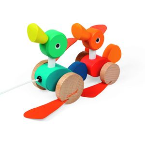 Pull Along Duck Duo - traditional toys & games