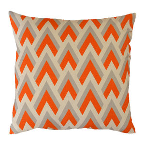 Orange Arrow Geometric Cushion