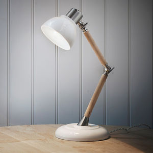 Porcelain Shade Lamp - bedside lamps