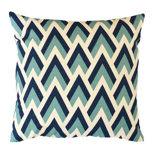Blue Arrow Geometric Cushion - cushions