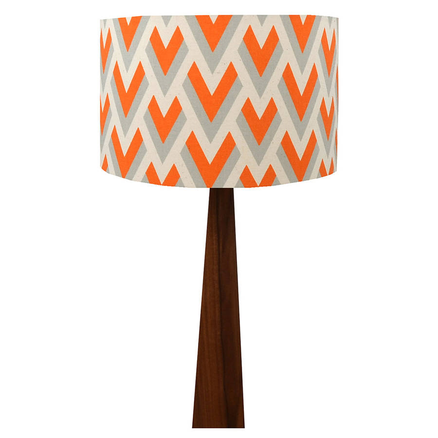 Orange arrow geometric wooden table lamp by hunkydory home orange arrow geometric wooden table lamp mozeypictures Image collections