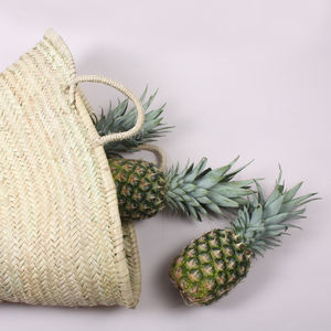 Handwoven Moroccan Market Basket - picnic hampers & baskets