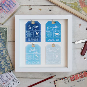 Four Personalised Luggage Tags - frequent traveller