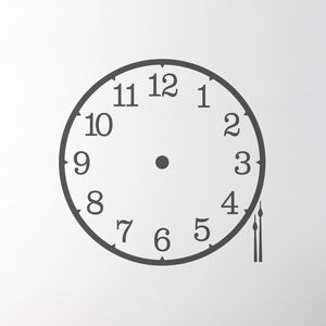 Clock Wall Sticker - wall stickers