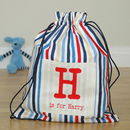 Boy's Personalised Kit Bags Printed Name