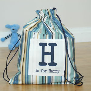 Boy's Personalised Kit Bags Printed Name - boys' bags & wallets