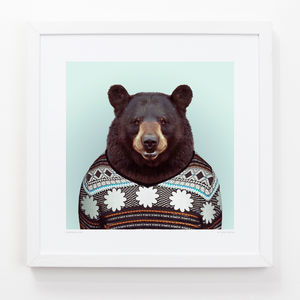 Black Bear Art Print - pictures & prints for children