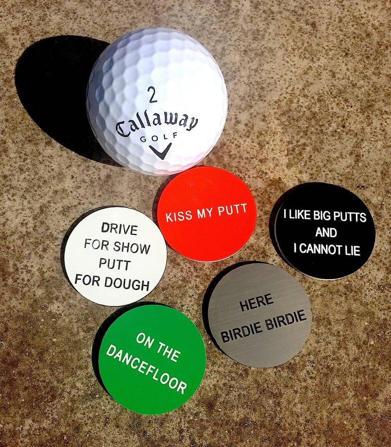 Golf Quote Ball Marker By Bobby Rocks Notonthehighstreet