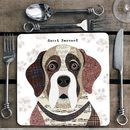 Saint Bernard Personalised Dog Placemat/Coaster