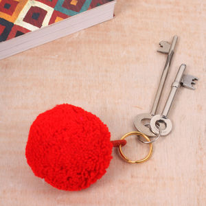 Pom Pom Basic Keyring - gifts for her