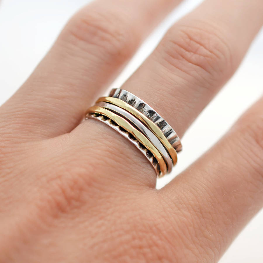 with ring and engagement bands of wedding mixed collection rings ideas gold yellow platinum metal