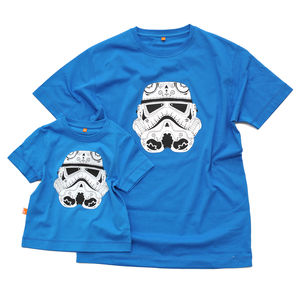 Stormtrooper Candyskull Dad And Child T Shirt Set - men's fashion
