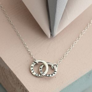 Personalised Double Hoop Name Necklace