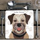 Border Terrier Personalised Dog Placemat/Coaster